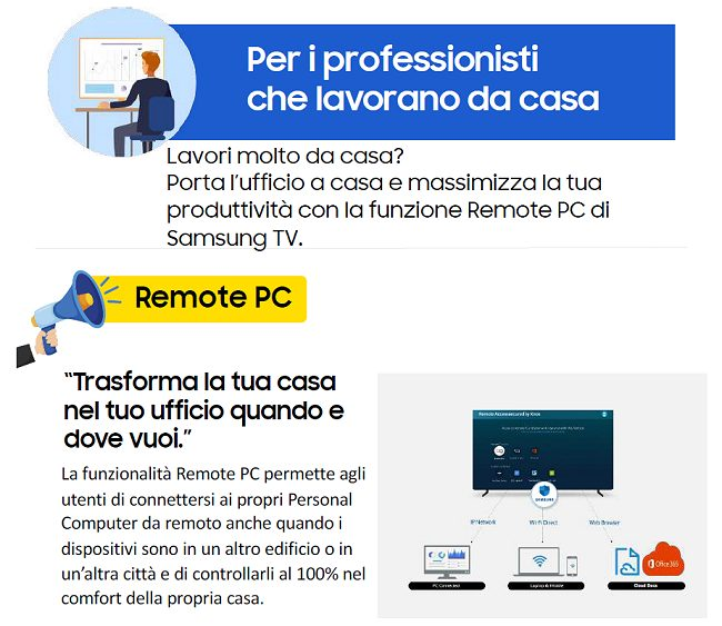 Samsung Remote Access: smart working, smart learning e gaming con la smart TV