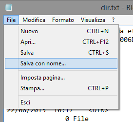 Stampare elenco dei file in una cartella con Windows 8.1, Windows 7 e Windows XP