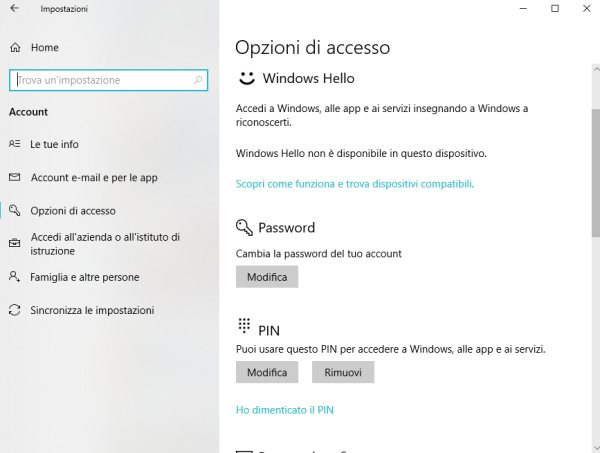 Togliere password Windows 10: ecco come si fa