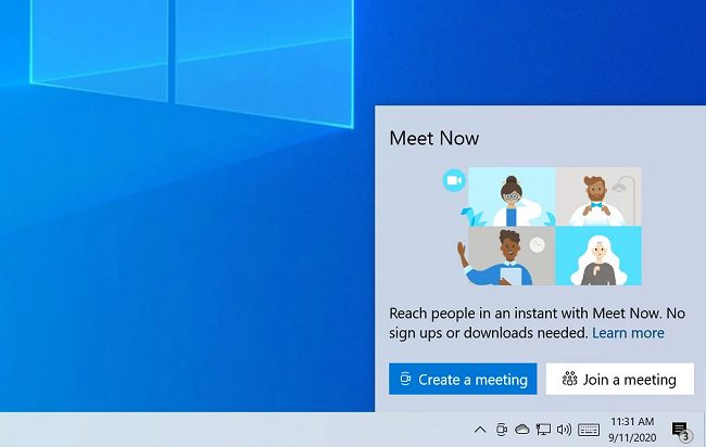 Funzionalità per le videoconferenze integrata in Windows 10