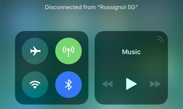 Apple iOS 11: il nuovo centro di controllo non disattiva WiFi e Bluetooth