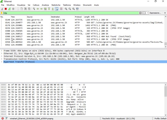 Wireshark, una breve guida all'uso
